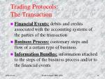 trading protocols the transaction
