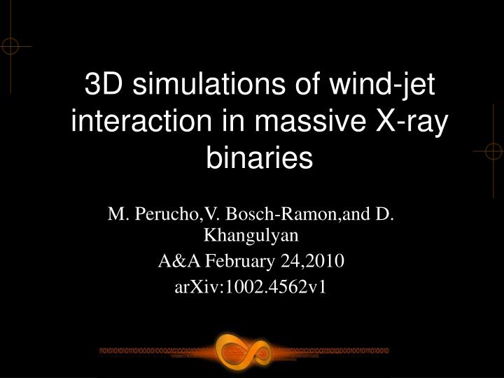3d simulations of wind jet interaction in massive x ray binaries