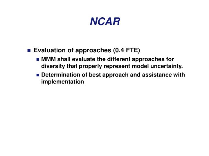 Evaluation of approaches (0.4 FTE)