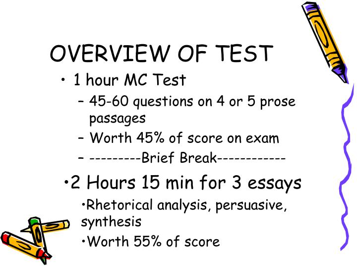 Overview of test