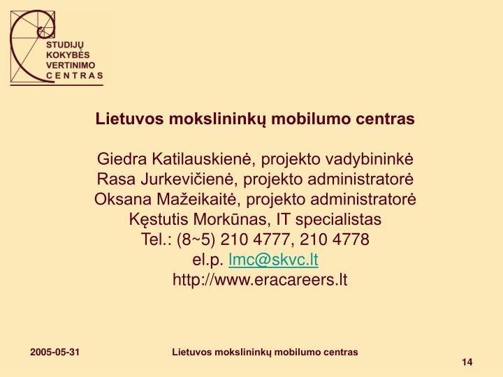 Lietuvos mokslininkų mobilumo centras