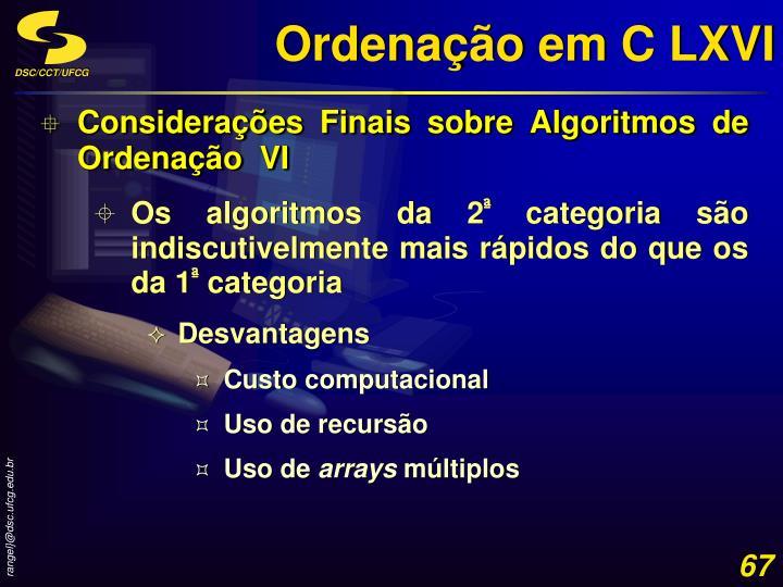 Ordenação em C LXVI