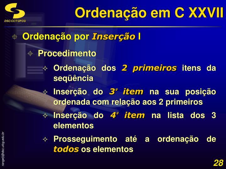 Ordenação em C XXVII
