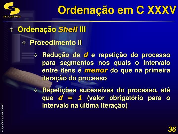 Ordenação em C XXXV