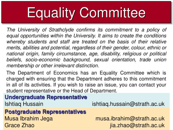 Equality committee