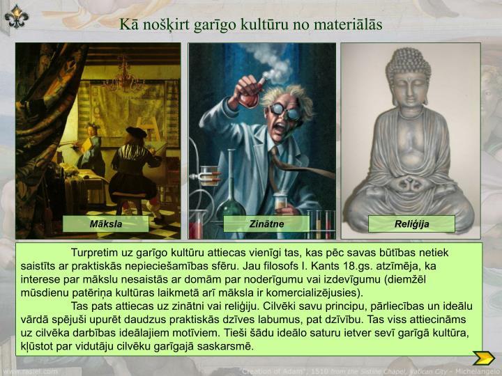 Kā nošķirt garīgo kultūru no materiālās