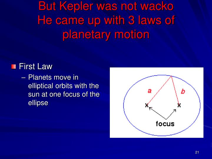 But Kepler was not wacko