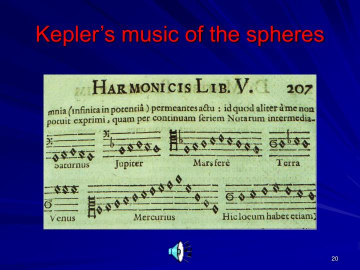 Kepler's music of the spheres