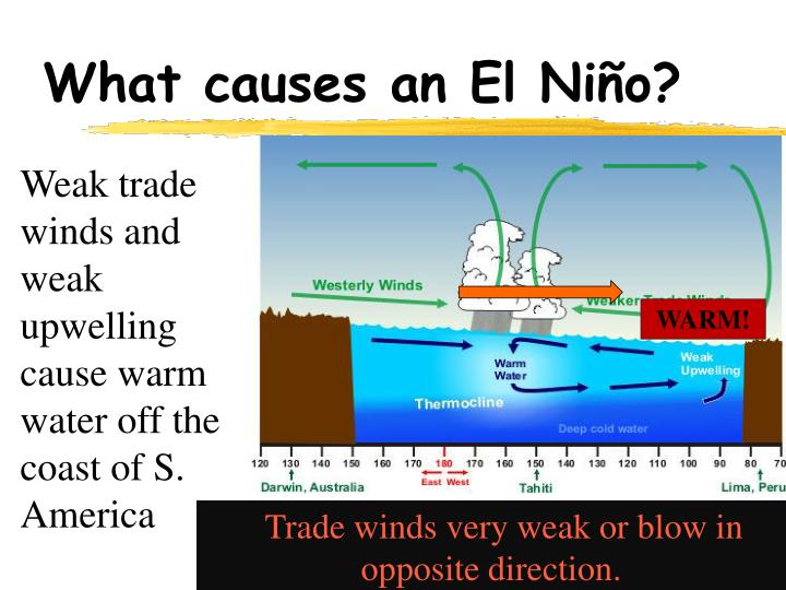 a lab experiment to demonstrate el nino effect trade winds and upwelling