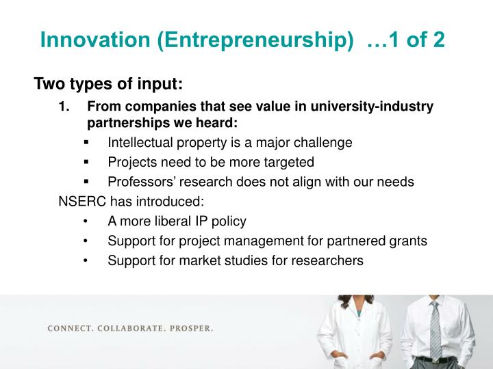 Innovation (Entrepreneurship)  …1 of 2