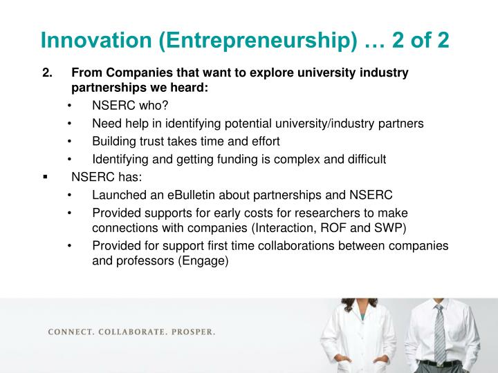Innovation (Entrepreneurship) … 2 of 2