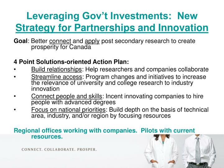 Leveraging Gov't Investments:  New