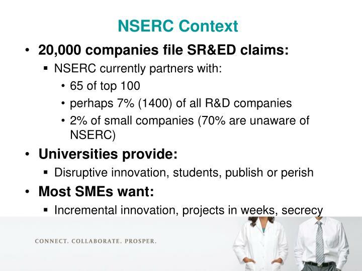 NSERC Context