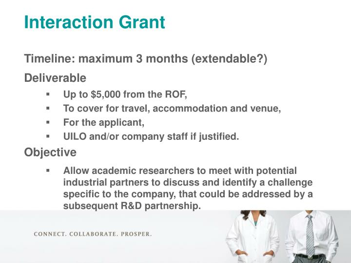 Interaction Grant