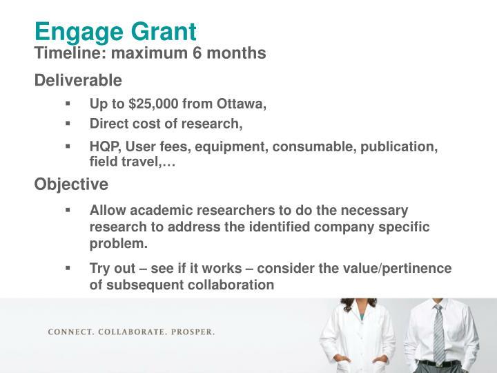 Engage Grant