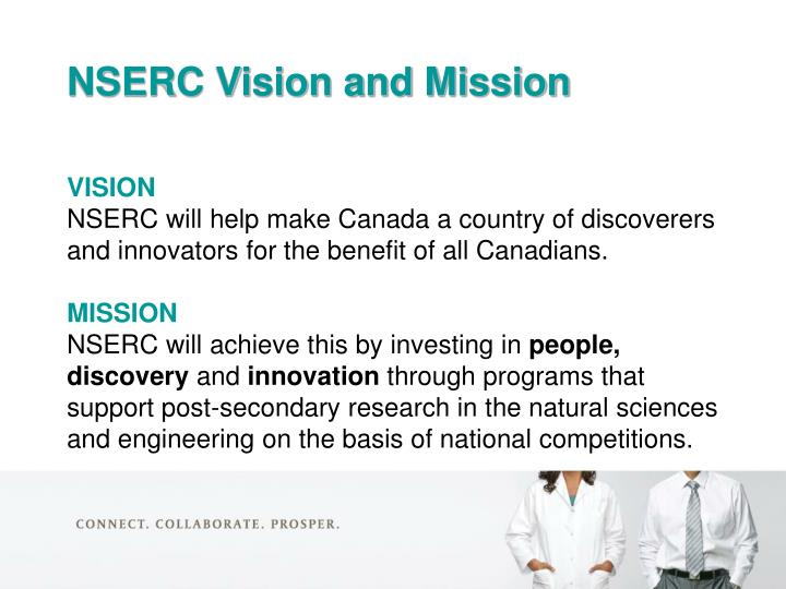 NSERC Vision and Mission