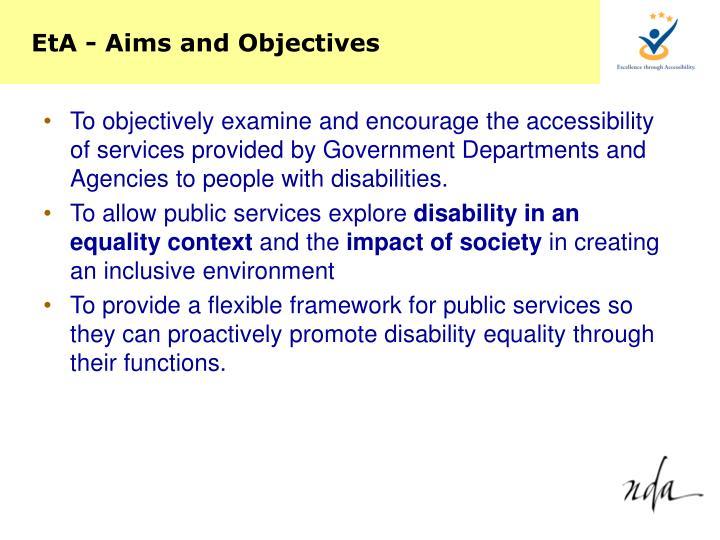 EtA - Aims and Objectives
