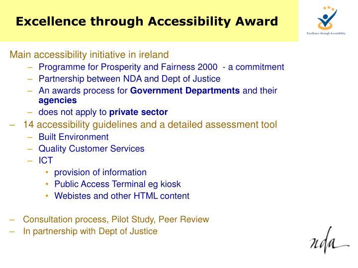 Excellence through Accessibility Award