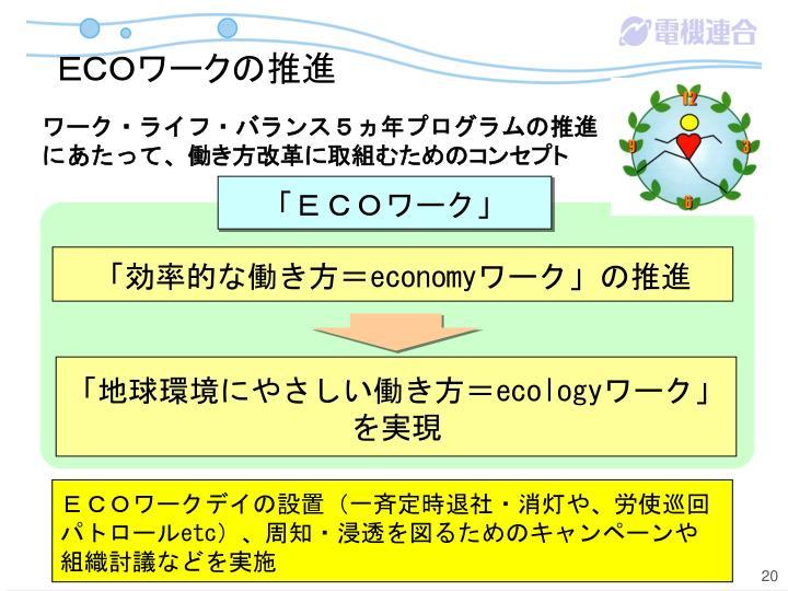 ECOワークの推進