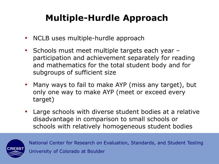 Multiple-Hurdle Approach