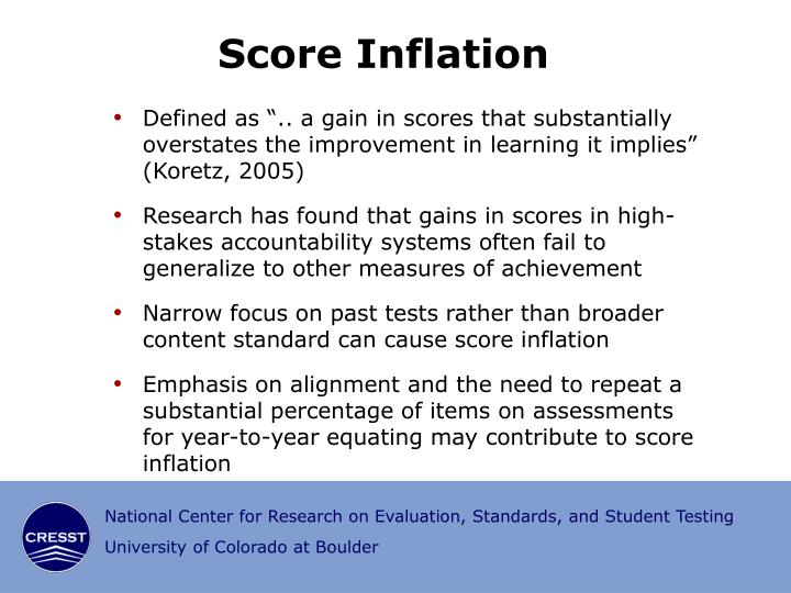 Score Inflation