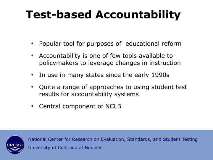 Test-based Accountability