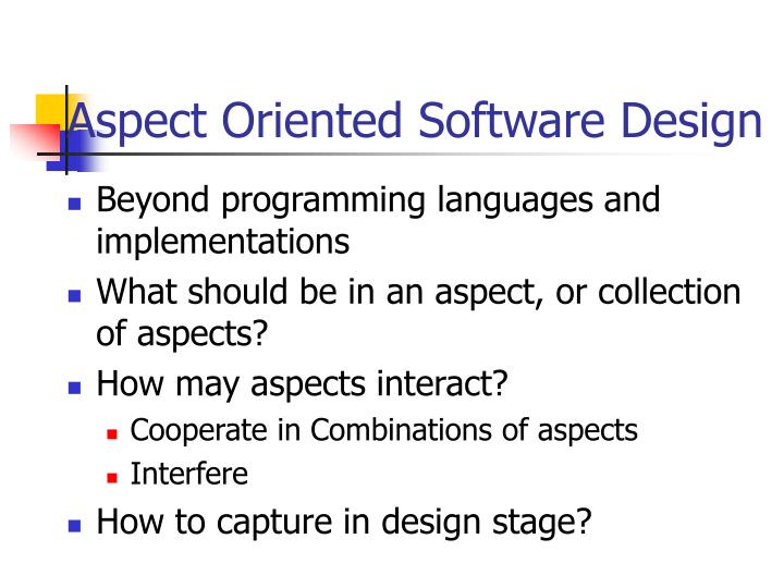 Aspect Oriented Software Design