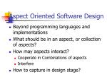 aspect oriented software design