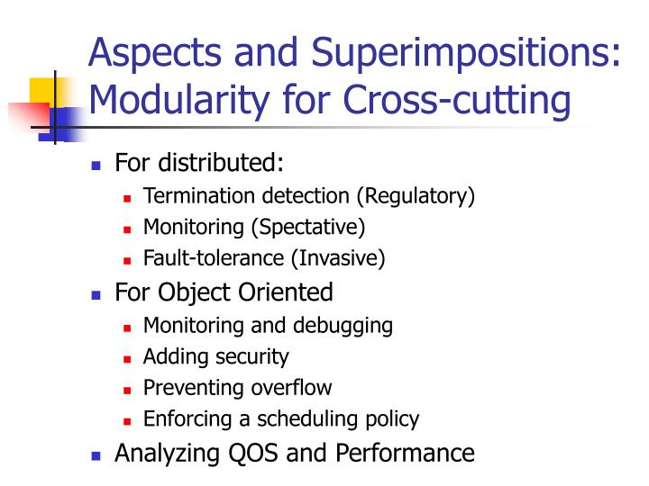 Aspects and Superimpositions: