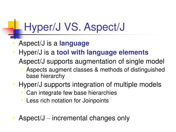 Hyper/J VS. Aspect/J