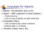 languages for aspects