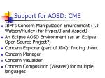 support for aosd cme