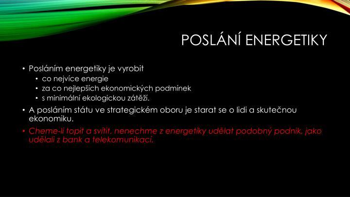 Poslání energetiky