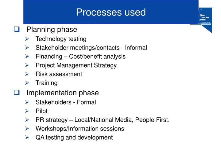 Processes used