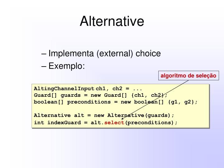 algoritmo de seleção