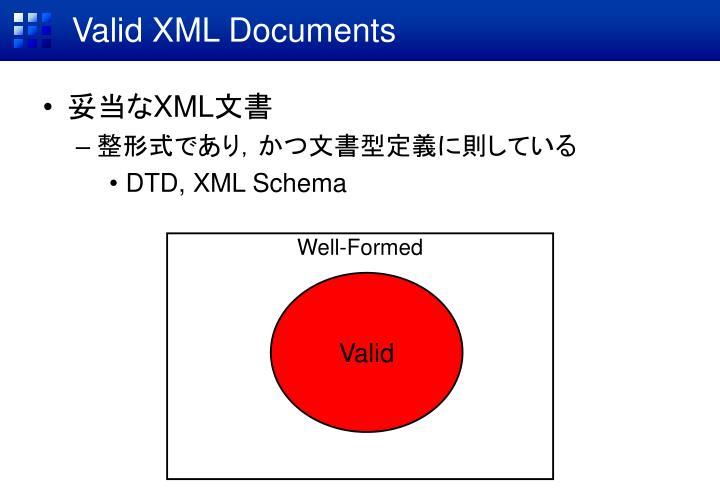 Valid XML Documents