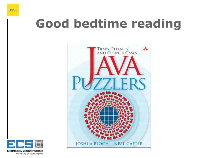 Good bedtime reading