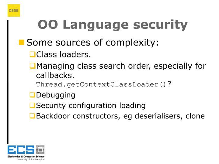 OO Language security