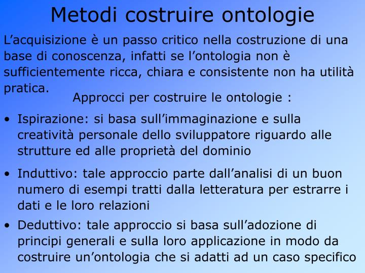 Metodi costruire ontologie