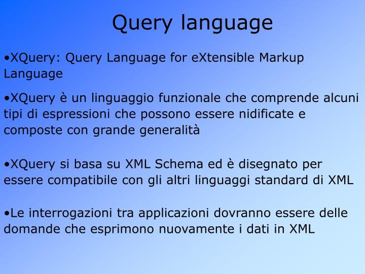 Query language