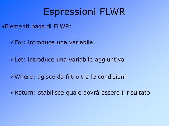 Espressioni FLWR