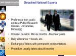 detached national experts