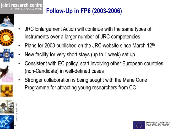 Follow-Up in FP6 (2003-2006)