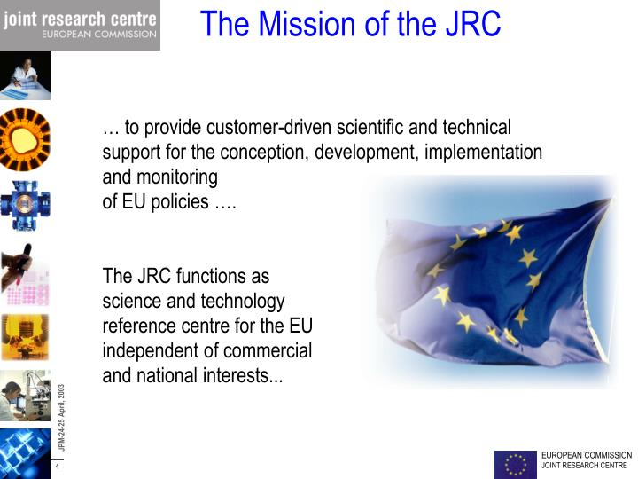 The Mission of the JRC