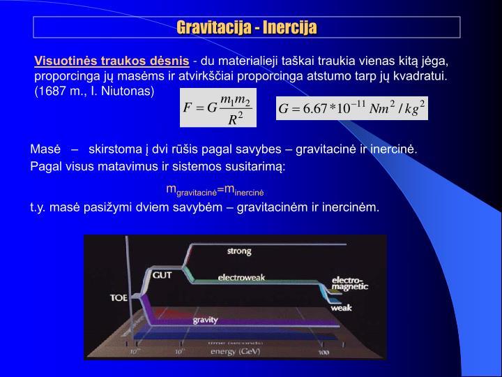 Gravitacija - Inercija