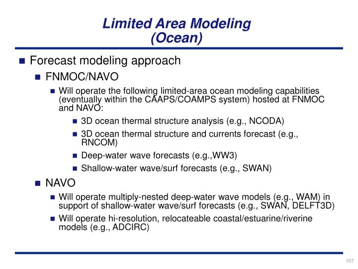Limited Area Modeling