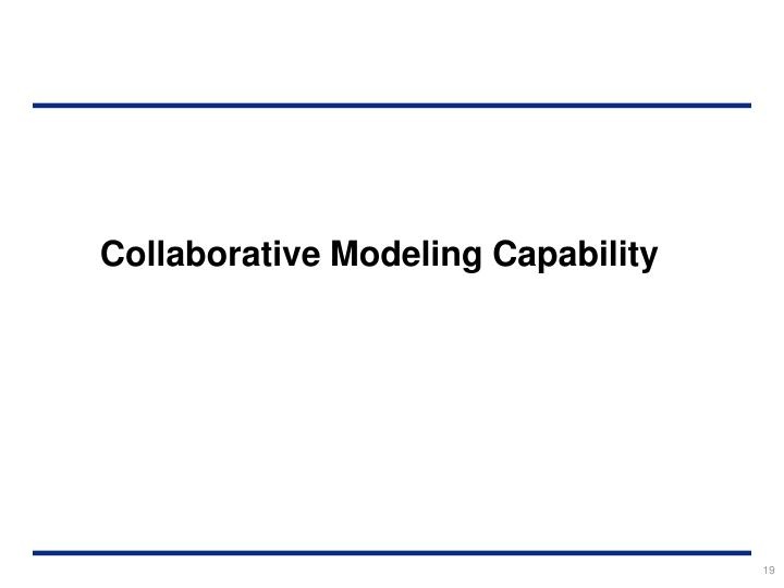 Collaborative Modeling Capability