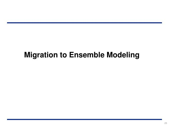 Migration to Ensemble Modeling
