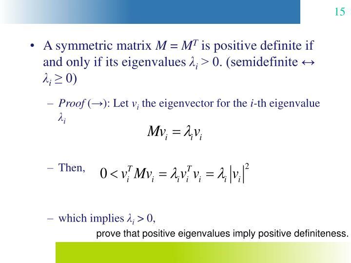 A symmetric matrix