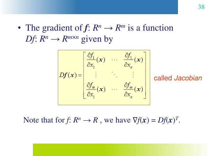 The gradient of